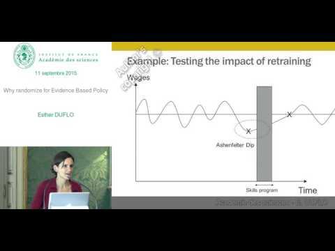 [EN] Conférence - E. Duflo - Why randomize for Evidence Based Policy - Académie des sciences