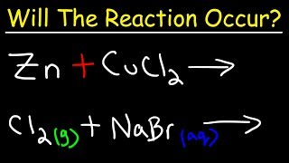 Chemistry - Will The Reaction Occur?