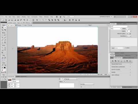 Adobe Fireworks CS5 - אדובי פיירוורקס - הכרת כלי מטה הקסם