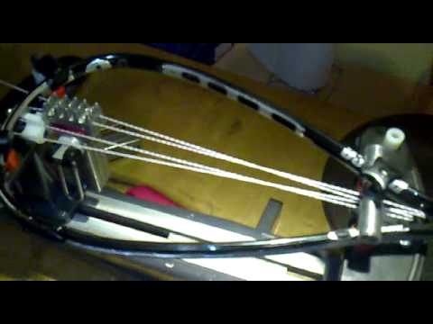 Stringing Prince Speedport O3 Black Squash Racket Youtube
