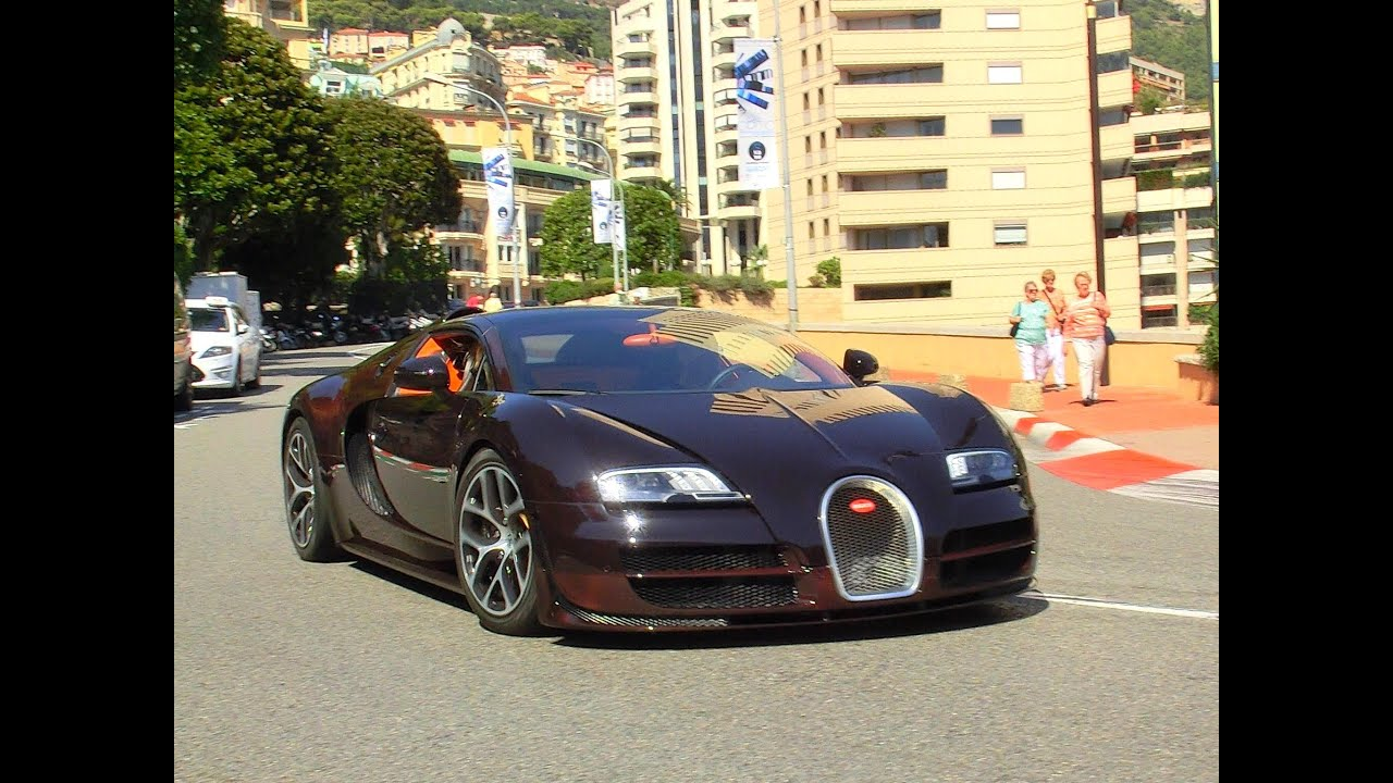 brown carbon bugatti veyron vitesse 2x start up in monaco youtube. Black Bedroom Furniture Sets. Home Design Ideas