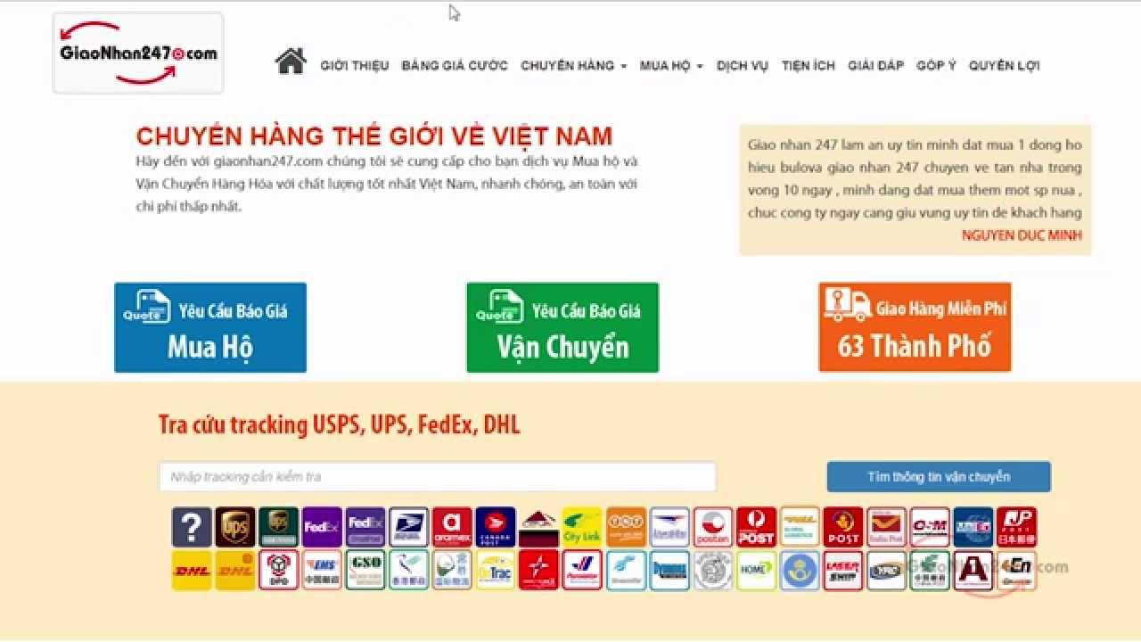 Dịch vụ vận chuyển ship hàng từ Mỹ về Việt Nam – Giao nhận 247