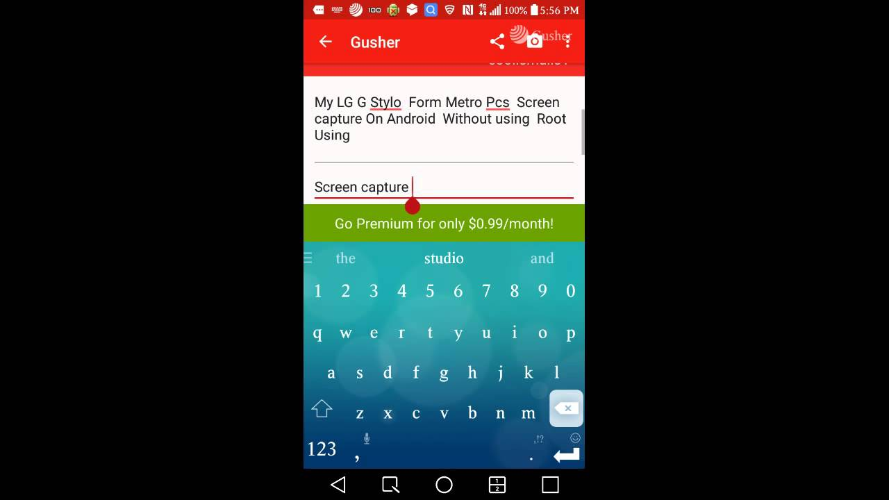 how to make a screen capture video android