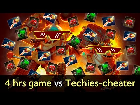 4 hours game vs Techies cheater/scripter — Rapiers vs Megacreeps comeback
