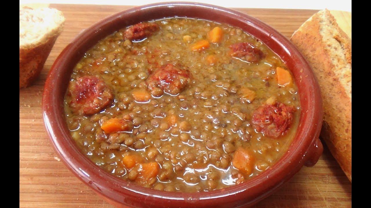 Cocinar Lentejas.Lentejas Con Chorizo Cocina De La Abuela
