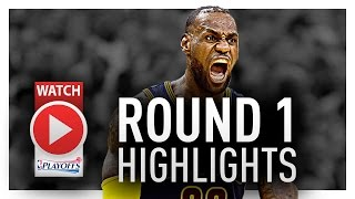LeBron James Round 1 Offense Highlights VS Pacers 2017 Playoffs - HISTORICAL!