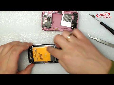 Samsung GT S6102 SAMSUNG GALAXY ACE - ремонт, замена экрана, разборка телефона - repair samsung gala
