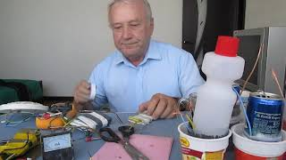 Электричество из материалов : алюминий - графит. NEW ! ! Часть № 2 , Практика.