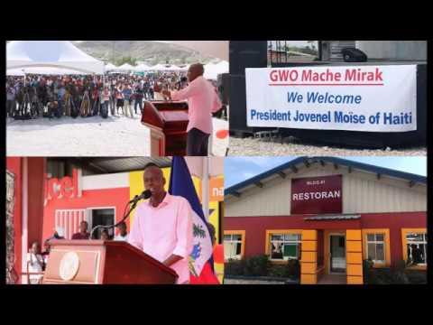 Le Président de la République, SEM Jovenel Moïse, a procédé à l'inauguration d'un centre commercial