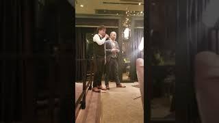後輩の結婚式でめちゃうまのふたり  桜-河口恭吾
