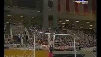 Fabian Hambuechen (GER) - High Bar TF @ Athens Olympic Games 2004