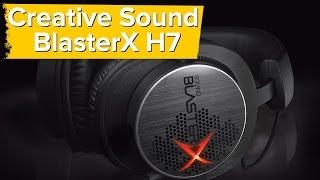 creative sound blasterx h7 unboxing