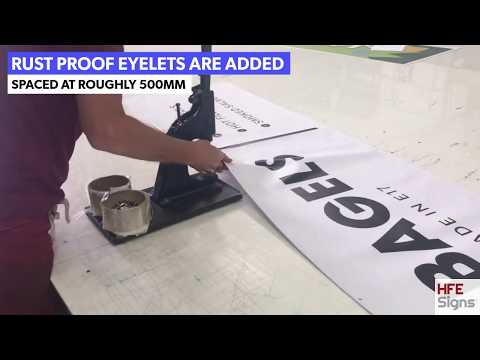 Printed Banners | Outdoor Banner Printing By HFE Signs | Cheap PVC Banners | Vinyl & Mesh Banners