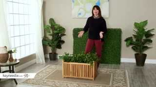 28-inch Solid Wood Lexington Rectangular Planter Box - Product Review Video