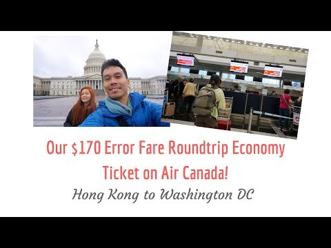 Hong Kong To Washington DC On Air Canada — $170 Error Fare Roundtrip Economy Ticket!