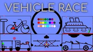 24 Marble Race EP. 24: Vehicle Race (by Algodoo)