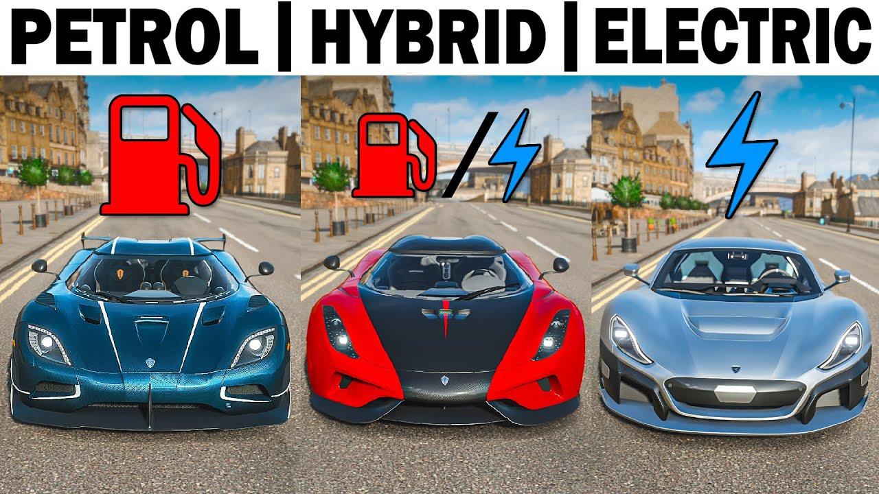 Forza Horizon 4 | Petrol vs Hybrid vs Electric | Hypercars!!!