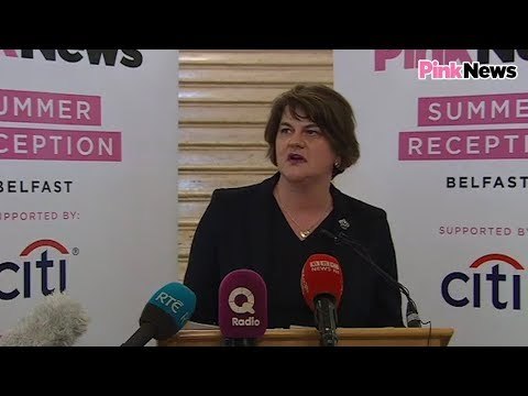 DUP leader Arlene Foster's speech at PinkNews' Belfast summer reception