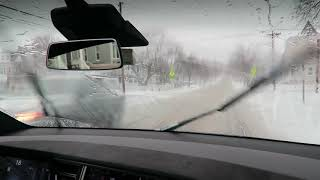 Tesla Autowipers in the Snow