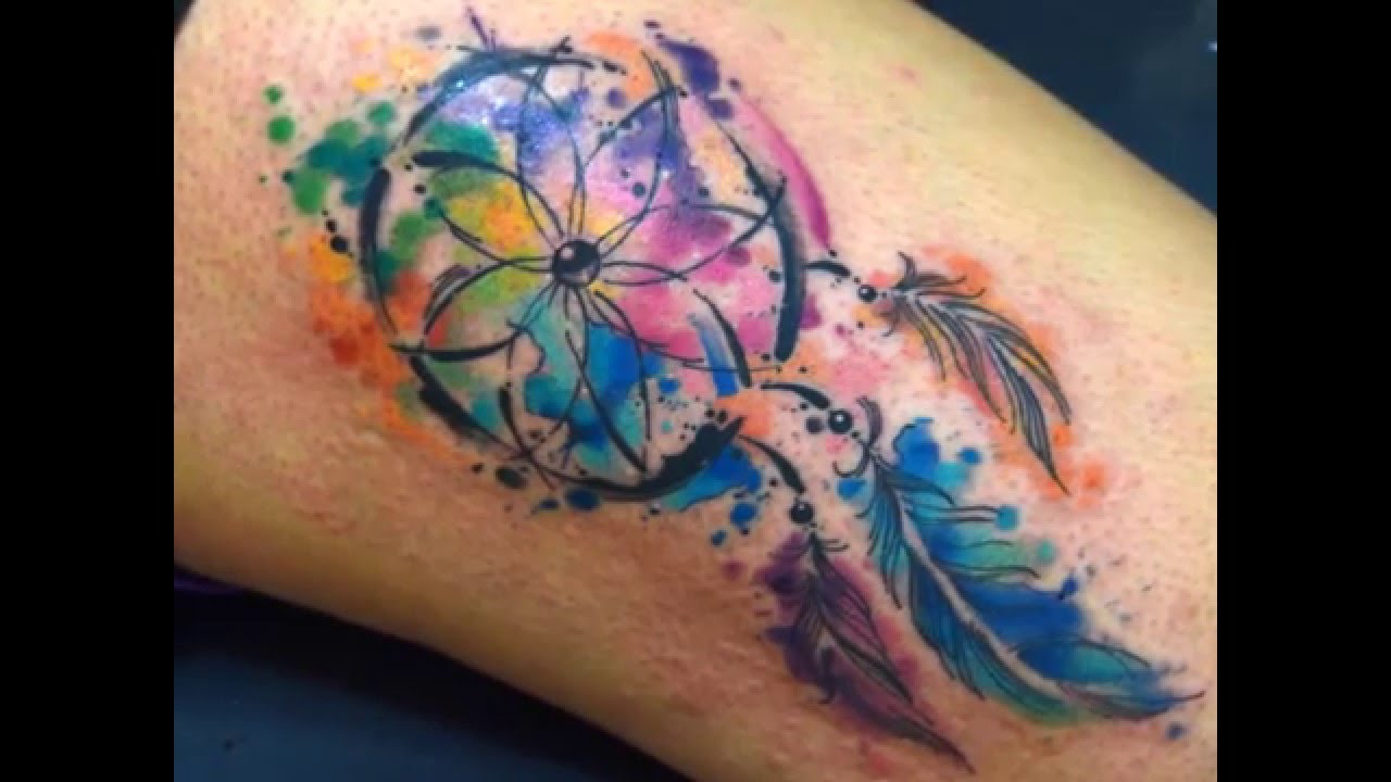 1e0e9ad94 Javi Wolf Watercolor Tattoo Tatuajes para Mujeres - YouTube