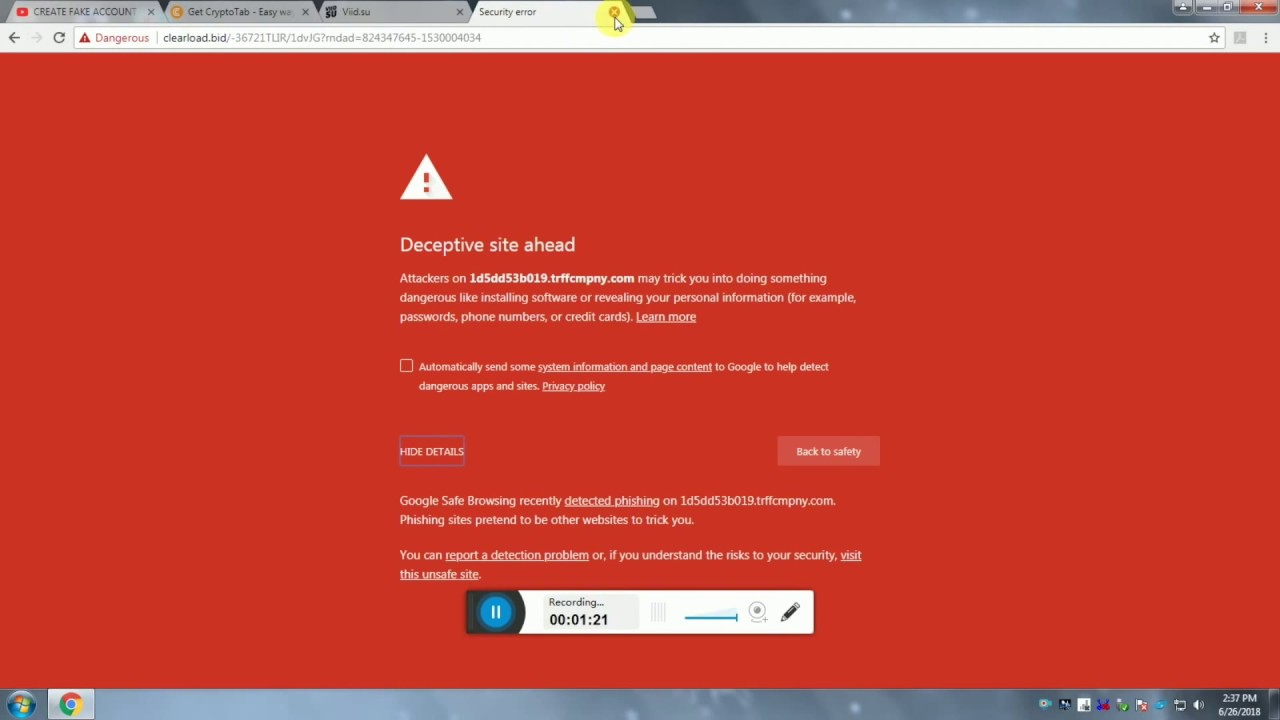 dangerous file blocked descargar