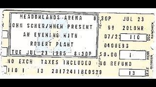 Robert Plant with Jimmy Page: Mean Woman Blues (Slow Blues) ~ Treat Her Right - East Rutherford 1985