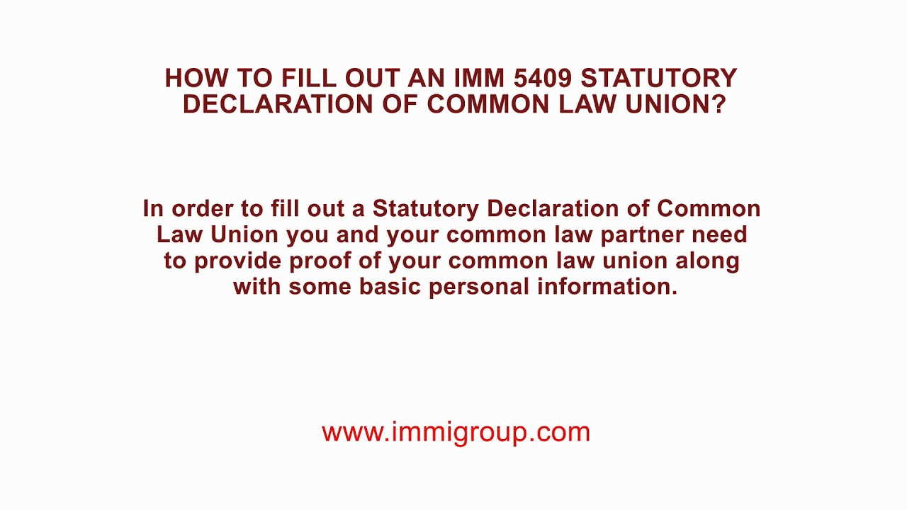 How to fill out an imm 5409 statutory declaration of common law how to fill out an imm 5409 statutory declaration of common law union altavistaventures Image collections
