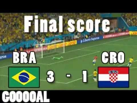 Goals BRACRO Brazil 3 Croatia 1 MARCELO NEYMAR OSCAR CM2014 Wordcup2014