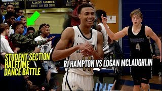 Student Section Dance Battle At Halftime! RJ Hampton VS Logan McLaughlin