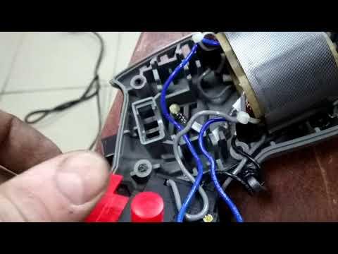 Подсоединение кнопки пуск дрели