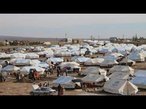 أربعةِ آلاف شخص ينزحون إلى مخيمِ الهول شمال شرق سوريا