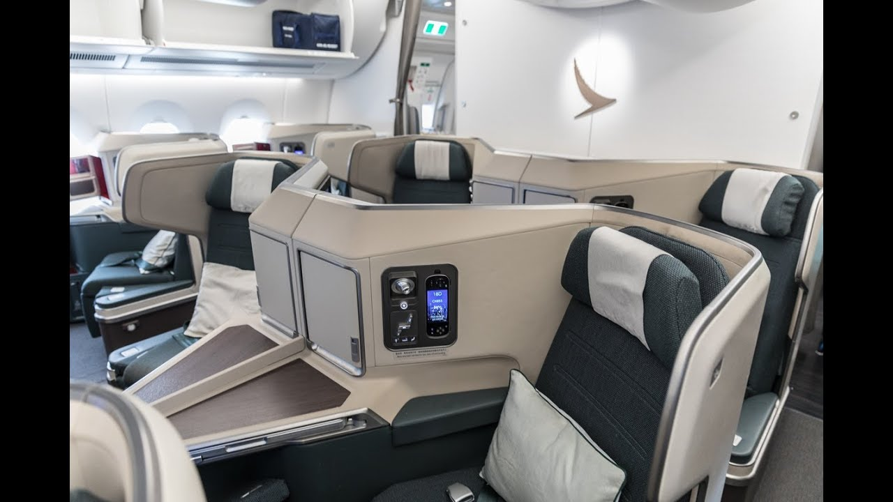 Cathay Pacific New Business Class Interior Classes Cathay Pacific A350-900 New Business Class Review: Hong Kong To London  Gatwick (cx343)