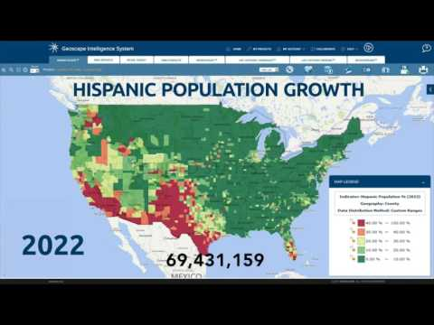 30 Year Hispanic Population Growth by Geoscape GIS [1990-2022]