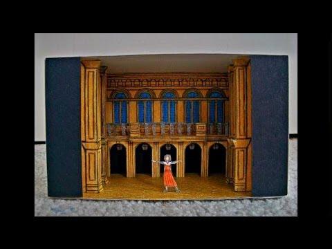 Paper Model of Evita the Musical (National Tour Scenic Design)