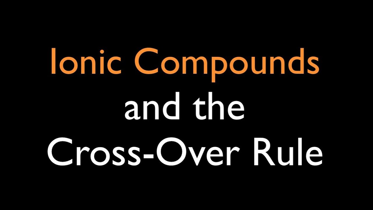 Ionic Compounds Cross Over Rule Youtube