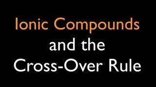 Ionic Compounds: Cross Over Rule