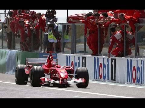 F1 2004: Michael Schumacher 4 Stop Strategy To Beat Alonso French GP  Formula One Highlights