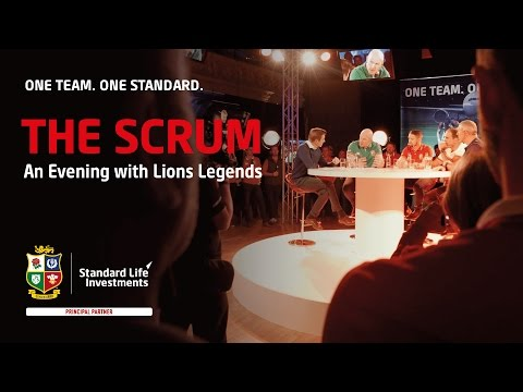 THE SCRUM - An evening with four Lions legends and one special guest