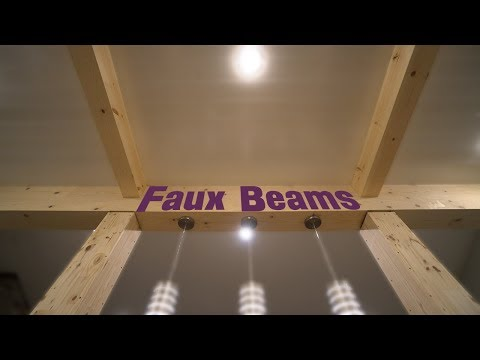 DIY Interior Faux Beams - Remodel and Installation