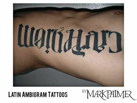Latin Ambigram Tattoos