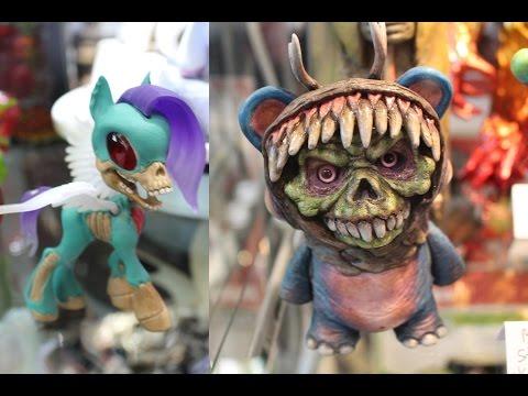 2015 NYCC New York Comic Con Art Toys Designer Toys Custom Toys Sculptures Exclusives Collection