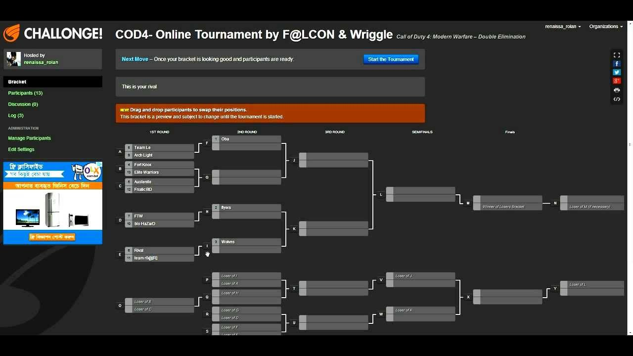 how to make tournament bracket