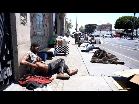 Black Woman Provides Tents To The Homeless On Skid Row During Covid-19