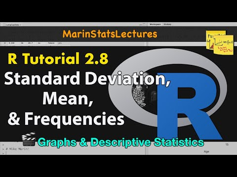 How to Calculate Mean, Standard Deviation, Frequencies in R (Descriptive Statistics R Tutorial 2.7)