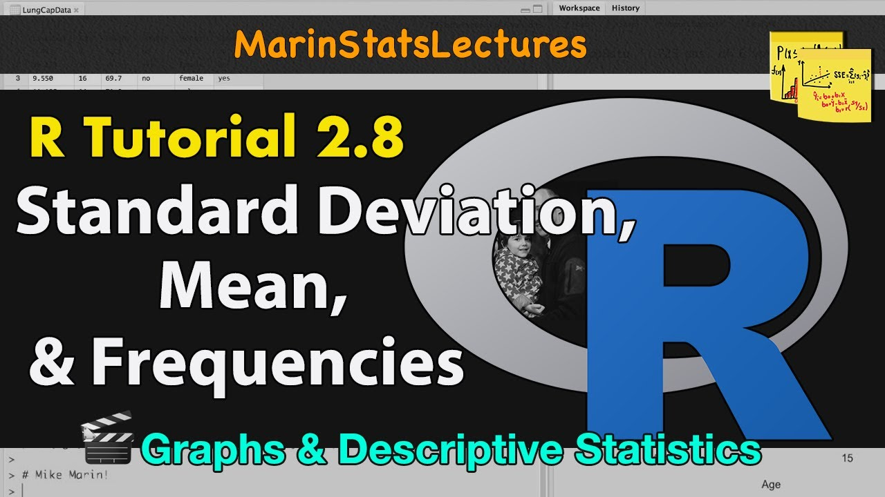 How To Calculate Mean, Standard Deviation, Frequencies In R (descriptive  Statistics R Tutorial 27)