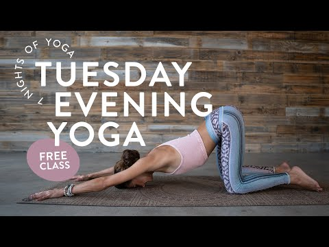 Tuesday Evening Vinyasa Yoga Class 🌙 (FULL CLASS)