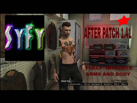GTA 5 ONLINE FULLY INVISIBLE BODY PARTS USING CLOTHING GLITCHES *PATCH 1.41* (GTA 5 INVISIBLE)