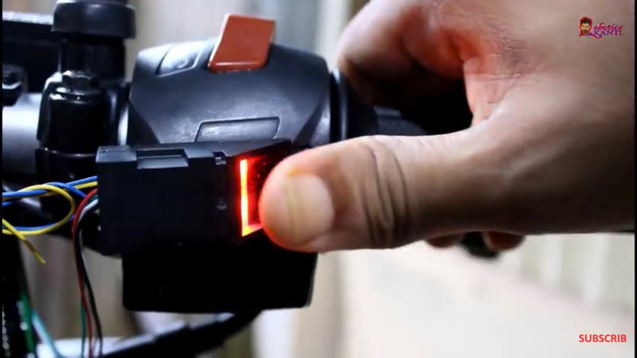 how to start bike  power with your fingerprint