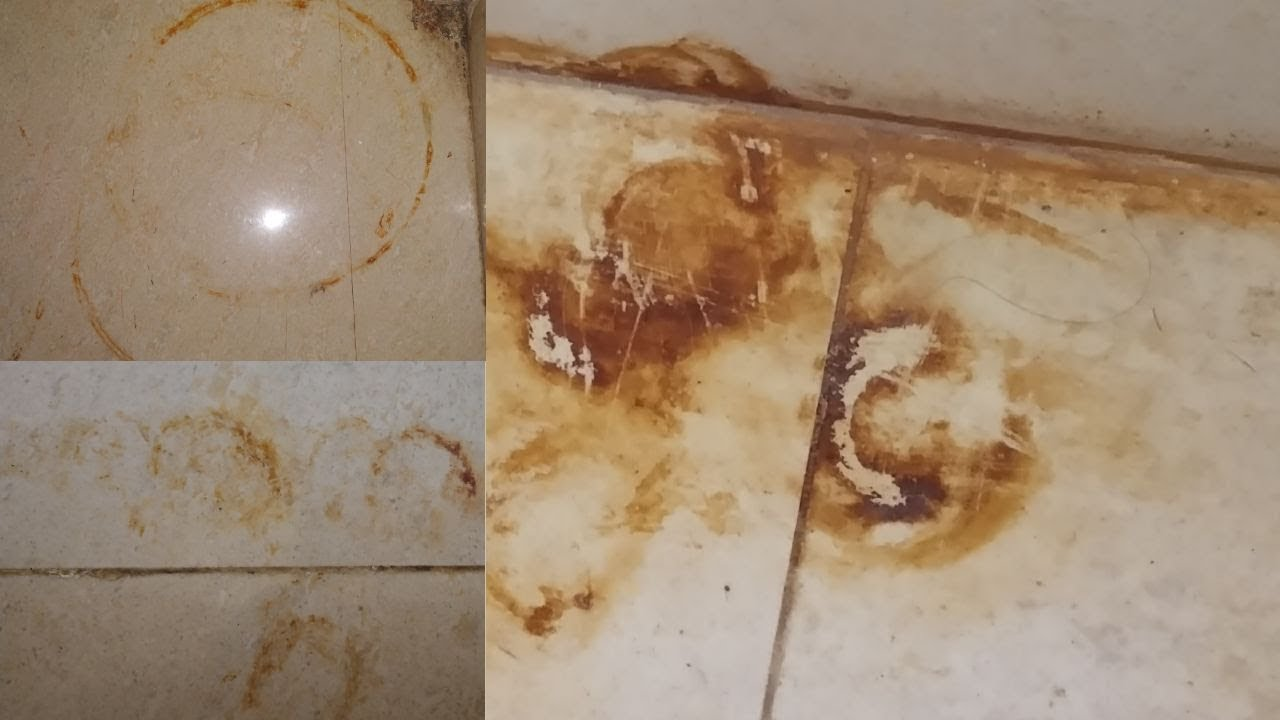24 Easy way to remove rust iron,cylinder stain on tiles,floor,marbles in 24  min in tamil
