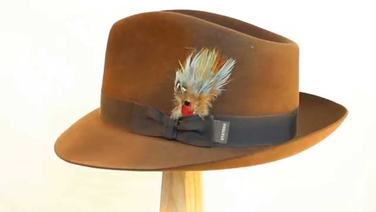 Stetson Chatham Teardrop Crown Fedora in Mink Brown - YouTube d511e7c95b1